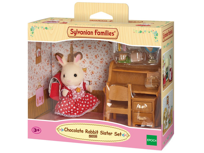 Chocolate Rabbit Sister Set Sylvanian Families Eden Toys www.edentoys.co.za