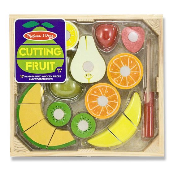 Cutting Fruit Set Wooden Play Food