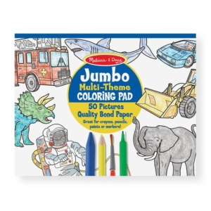 Jumbo 50 Page Kids Coloring Pad Melissa and Doug Eden Toys