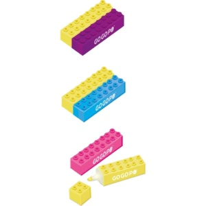Building Blocks highlighters Go Go Po Eden Toys