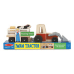 Classic Wooden Farm Tractor Play Set Melissa and Doug Eden Toys
