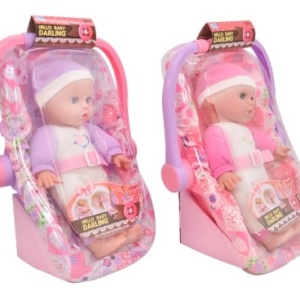 Soft Baby Doll in Car Seat Dolls & Accessories Eden Toys