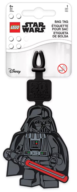 Darth Vader Bag Tag Star Wars Lego Eden Toys