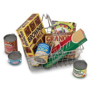 Lets Play House Grocery Basket with Play Food Melissa and Doug Eden Toys